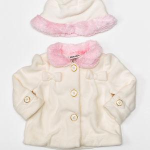 Little Lass Jackets & Coats - Little Lass Baby GIrl Pink Faux Fur w/ Hat